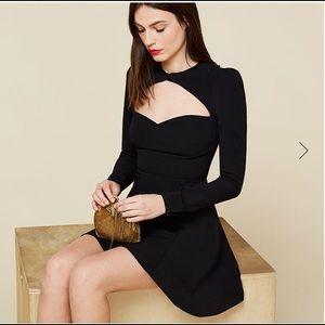 Reformation Whiskey black flare dress size:0